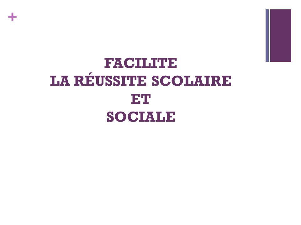 FACILITE LA RÉUSSITE SCOLAIRE ET SOCIALE