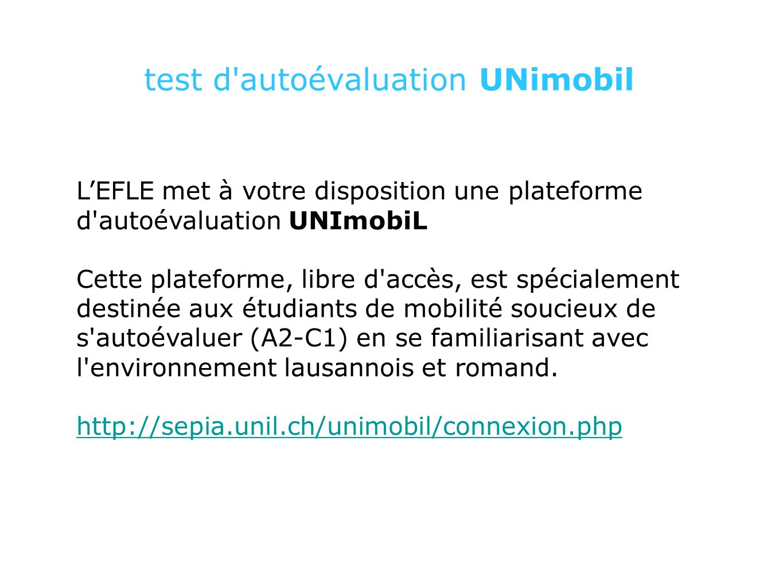 UNImobiL http://sepia.unil.ch/unimobil/connexion.php