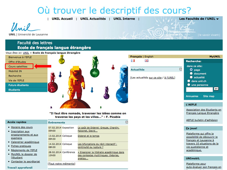 Le descriptif des cours au format pdf