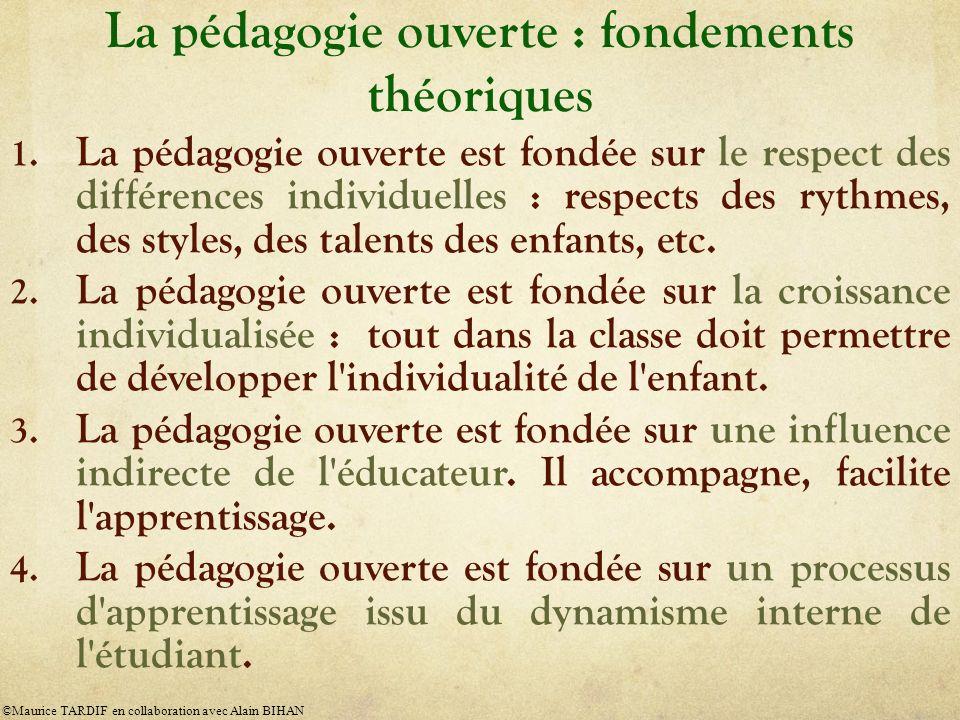 La pédagogie ouverte : fondements théoriques