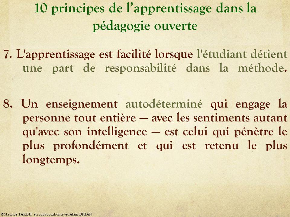 10 principes de l'apprentissage dans la pédagogie ouverte