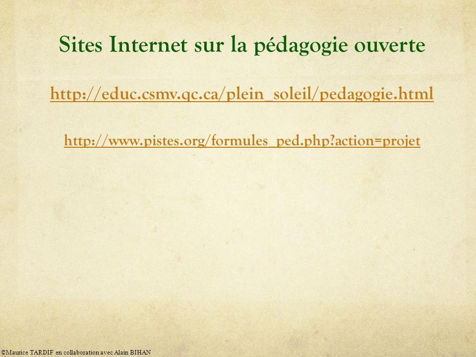 Sites Internet sur la pédagogie ouverte