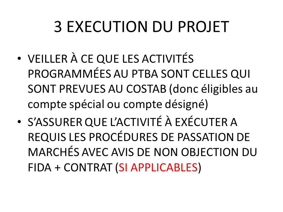 3 EXECUTION DU PROJET