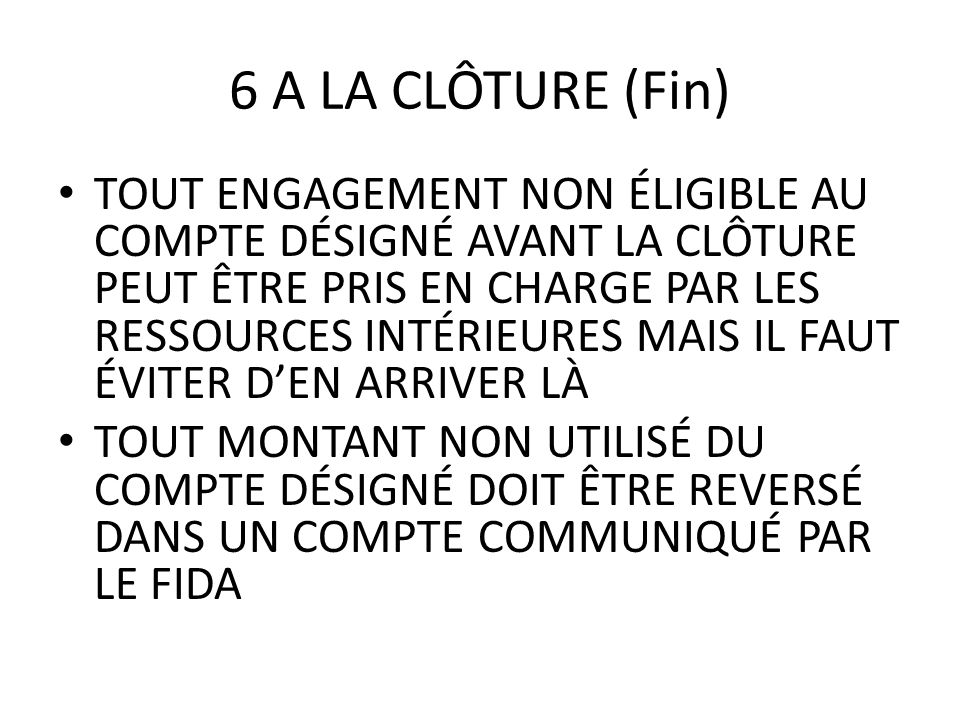 6 A LA CLÔTURE (Fin)