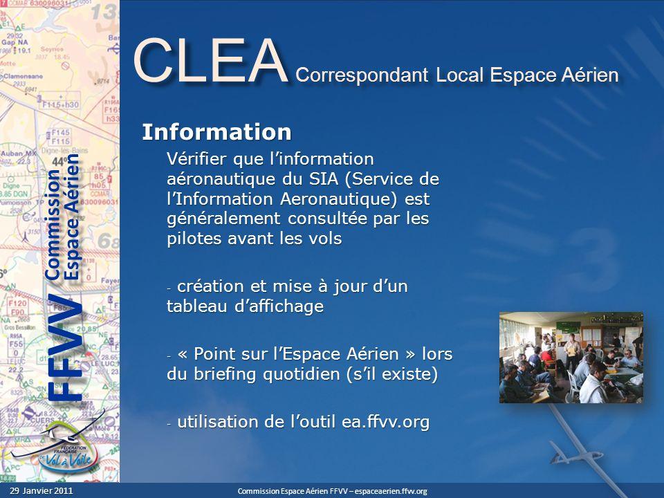 CLEA Correspondant Local Espace Aérien