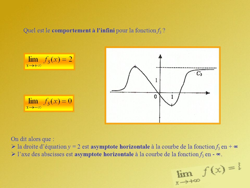 Quel est le comportement à l infini pour la fonction f3
