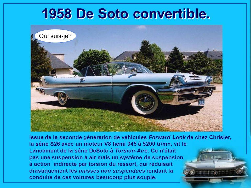 1958 De Soto convertible. Qui suis-je