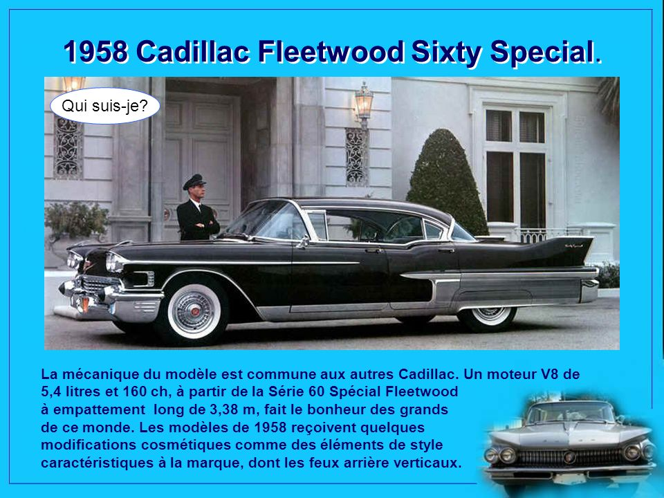 1958 Cadillac Fleetwood Sixty Special.