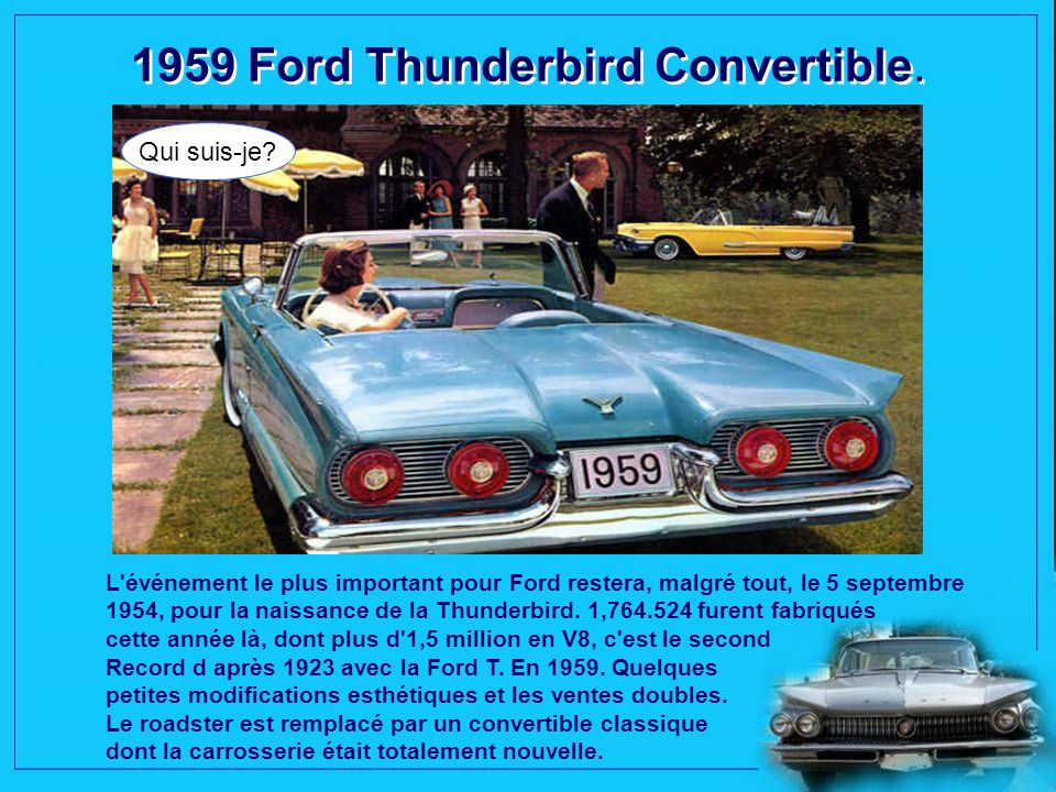 1959 Ford Thunderbird Convertible.