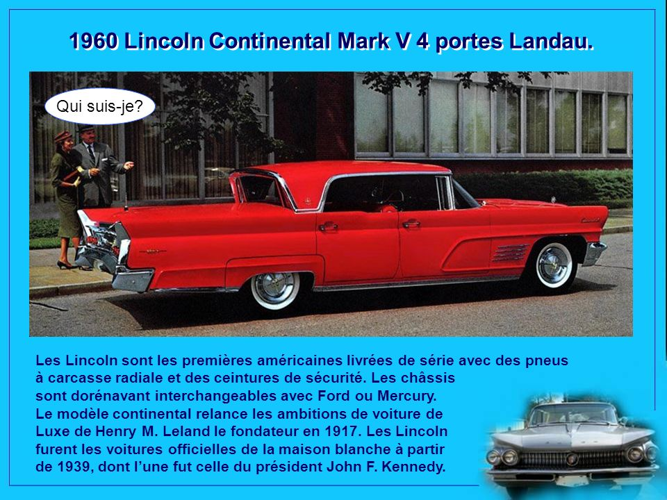 1960 Lincoln Continental Mark V 4 portes Landau.