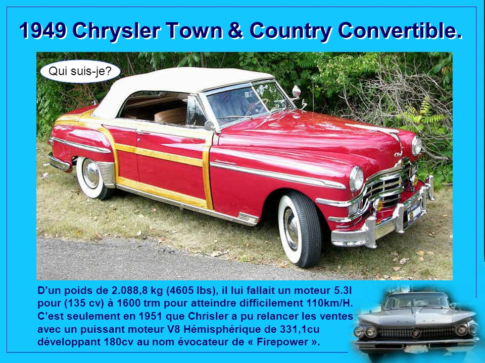 1949 Chrysler Town & Country Convertible.