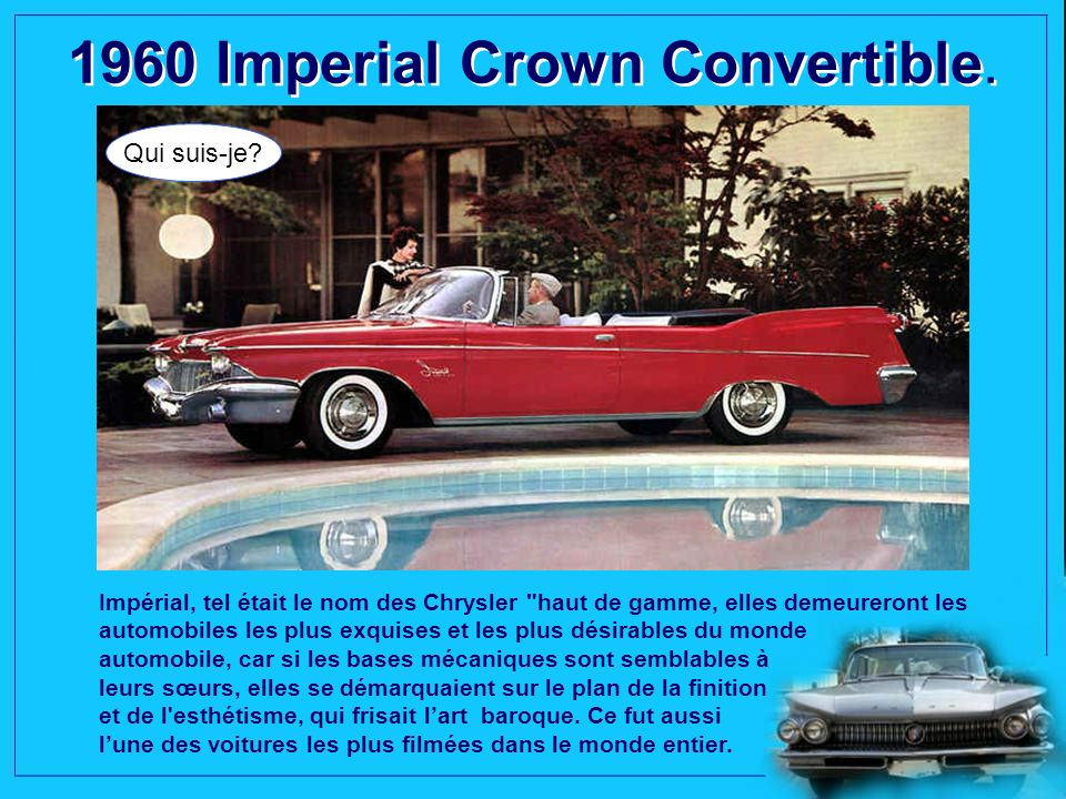 1960 Imperial Crown Convertible.