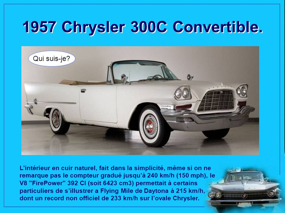 1957 Chrysler 300C Convertible.