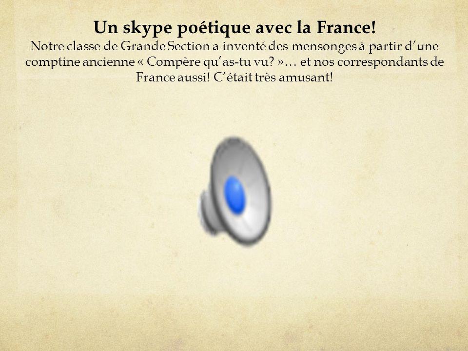 Un skype poétique avec la France