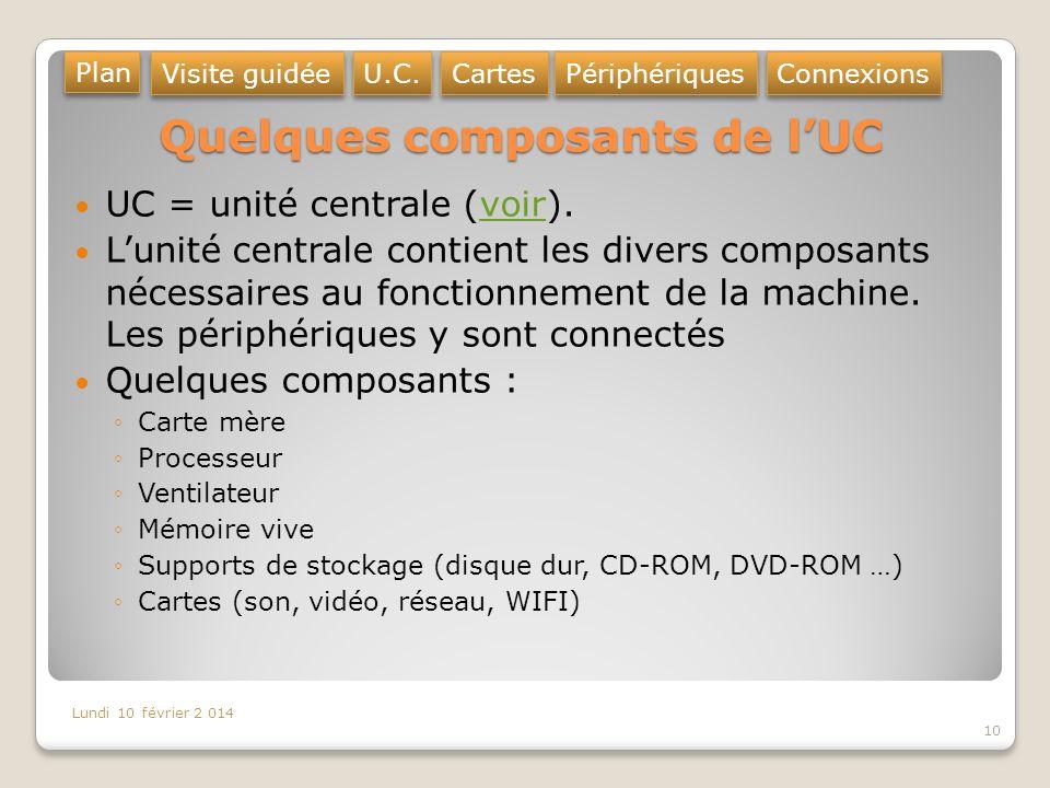 Quelques composants de l'UC