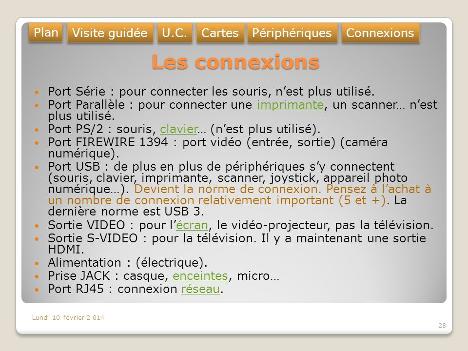 L ordinateur architecture ppt video online t l charger - Port usb ne reconnait pas peripheriques ...