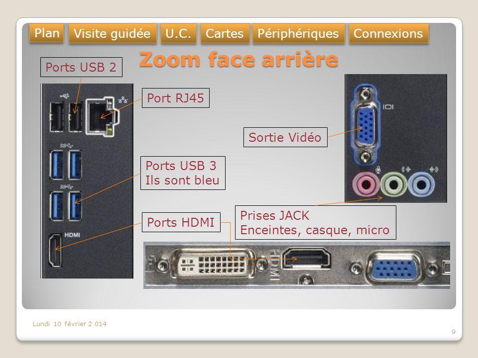 Zoom face arrière Plan Visite guidée U.C. Cartes Périphériques