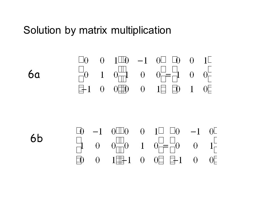 Solution by matrix multiplication