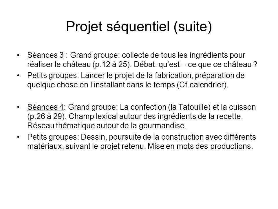 Projet séquentiel (suite)