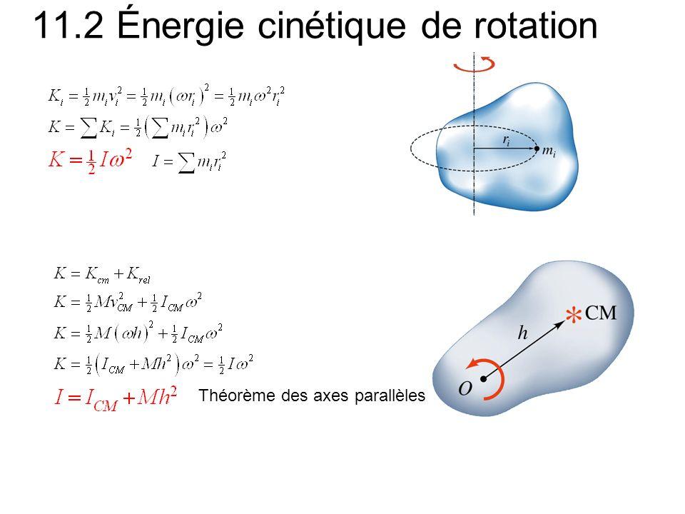 11.2 Énergie cinétique de rotation