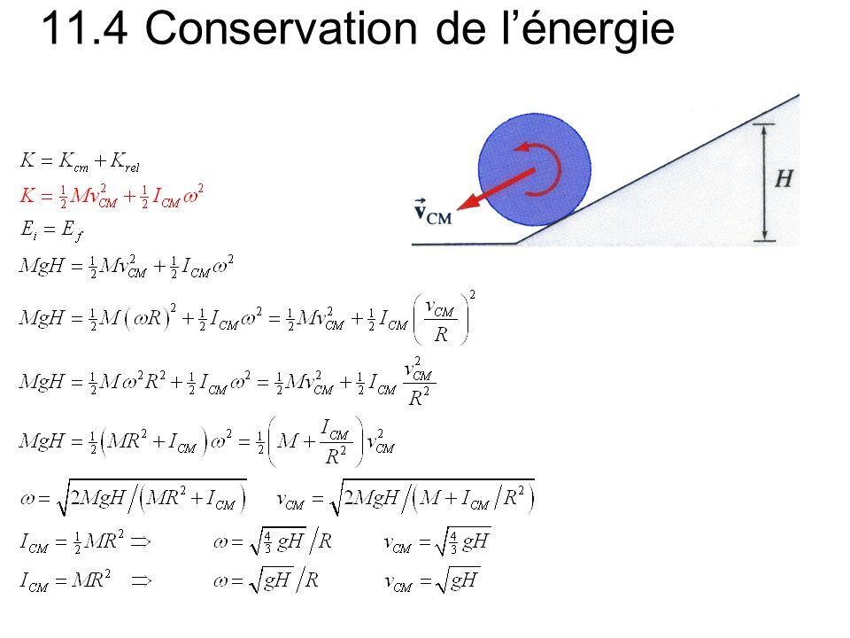 11.4 Conservation de l'énergie