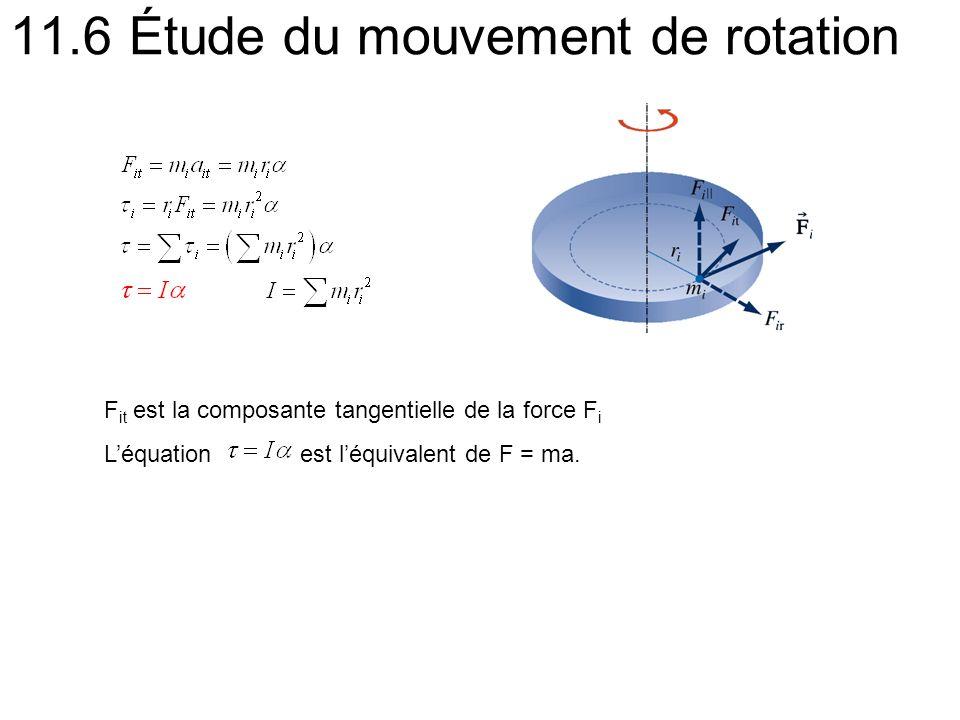 11.6 Étude du mouvement de rotation