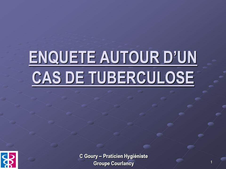 ENQUETE AUTOUR D'UN CAS DE TUBERCULOSE