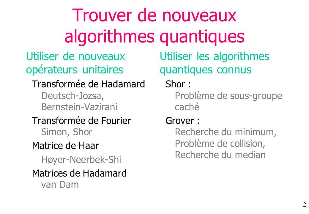 Trouver de nouveaux algorithmes quantiques