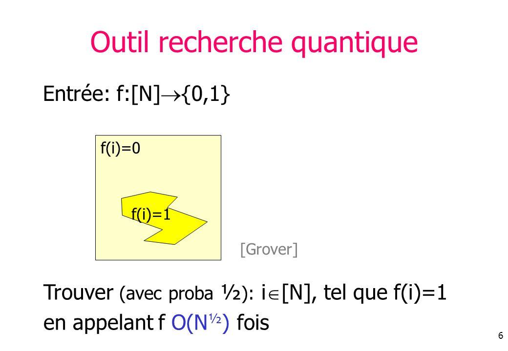 Outil recherche quantique