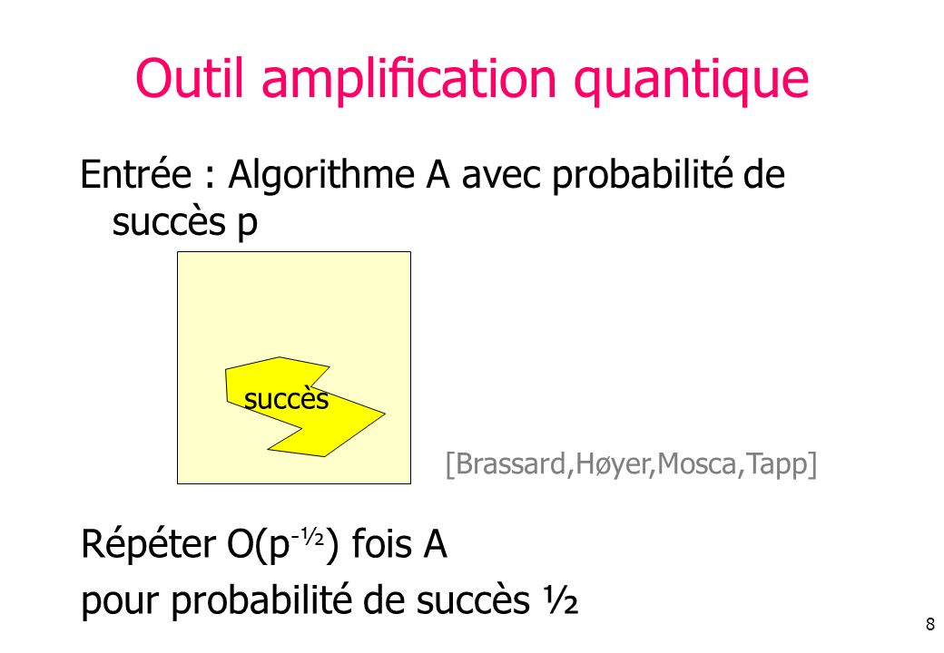 Outil amplification quantique