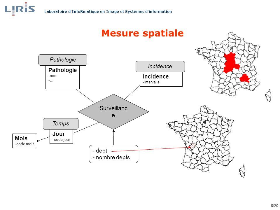 Mesure spatiale Surveillance Pathologie Incidence Temps Jour Mois dept