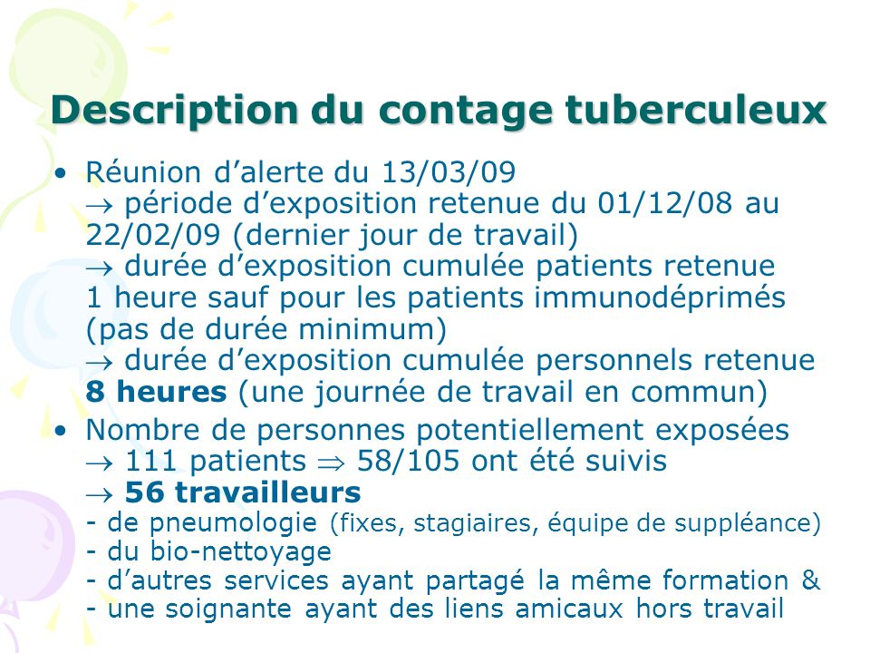 Description du contage tuberculeux