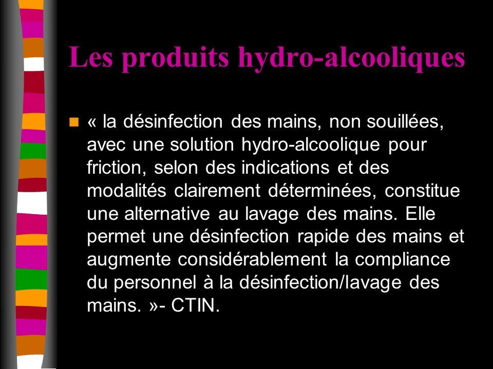 Les produits hydro-alcooliques