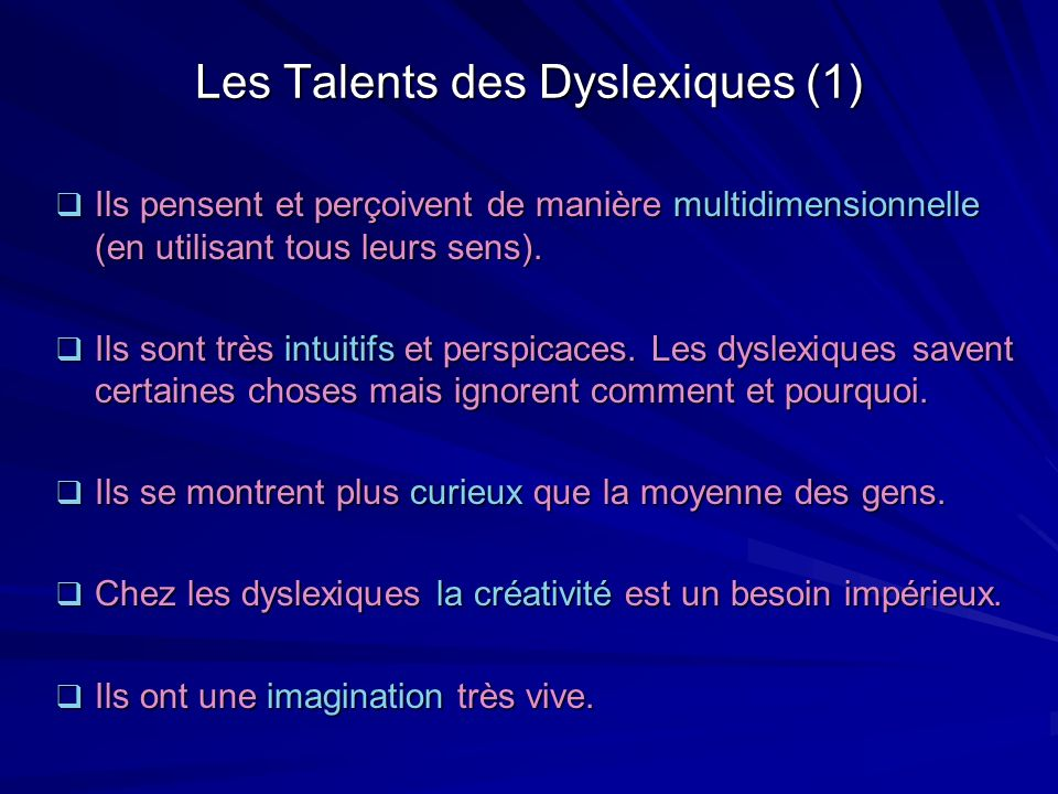 Les Talents des Dyslexiques (1)