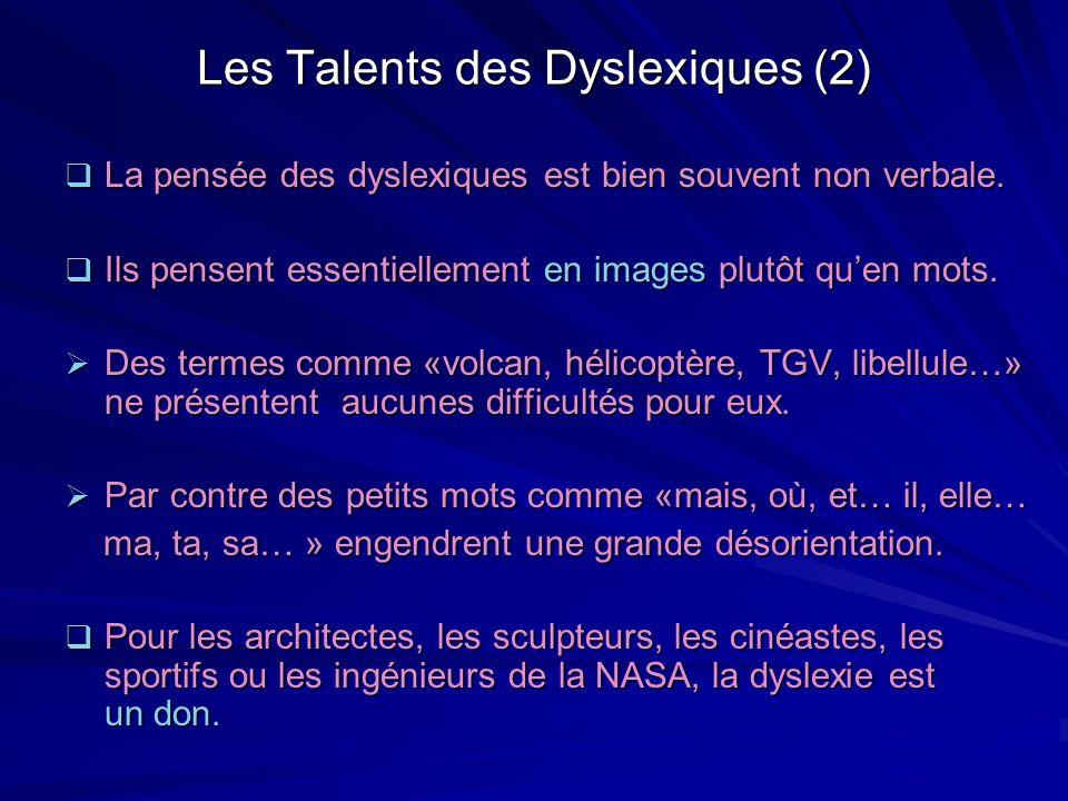 Les Talents des Dyslexiques (2)