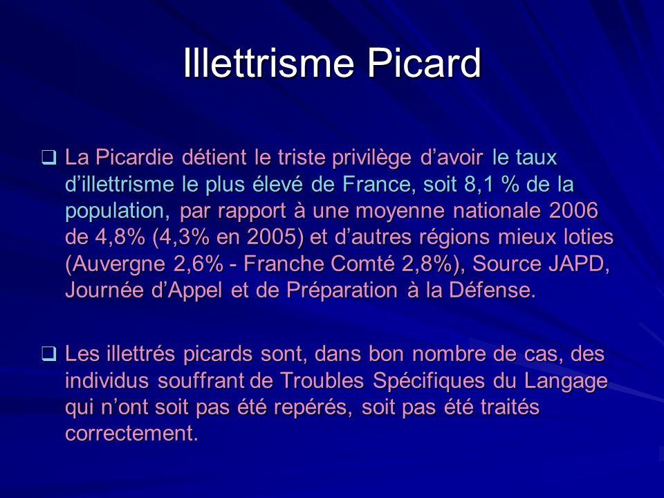 Illettrisme Picard