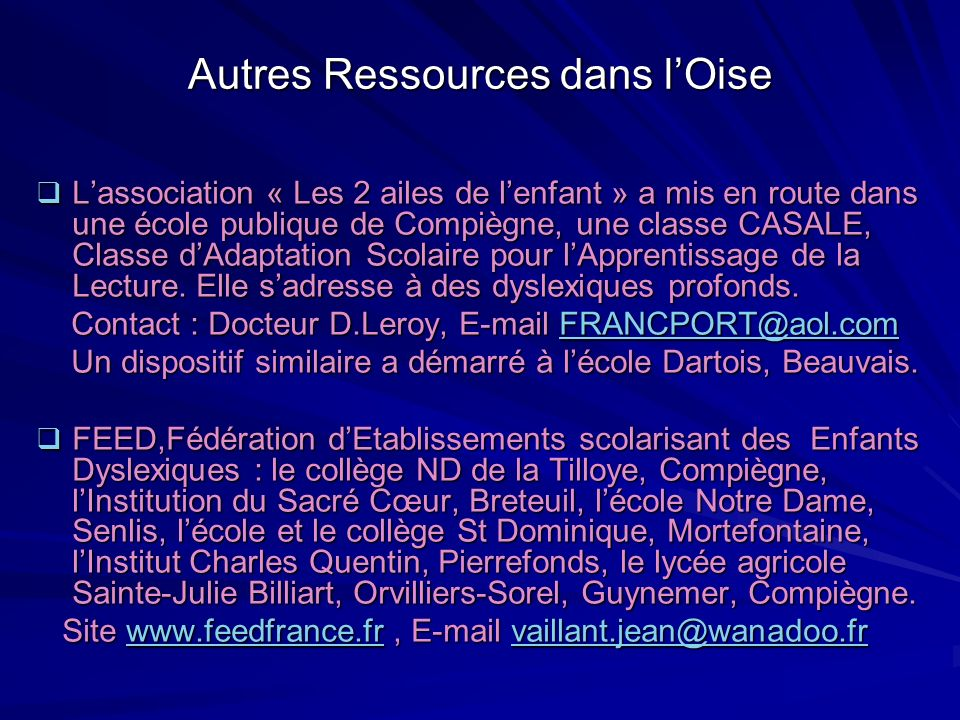 Autres Ressources dans l'Oise
