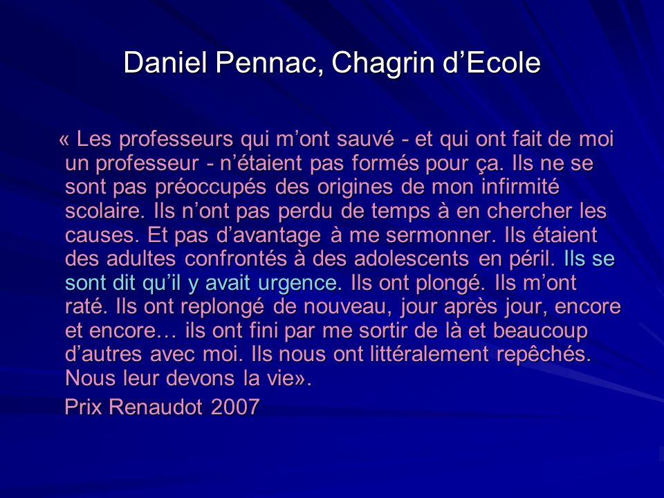 Daniel Pennac, Chagrin d'Ecole