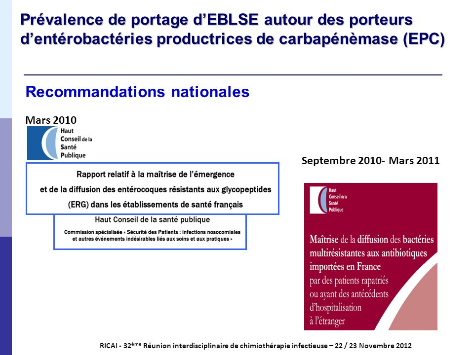 Recommandations nationales