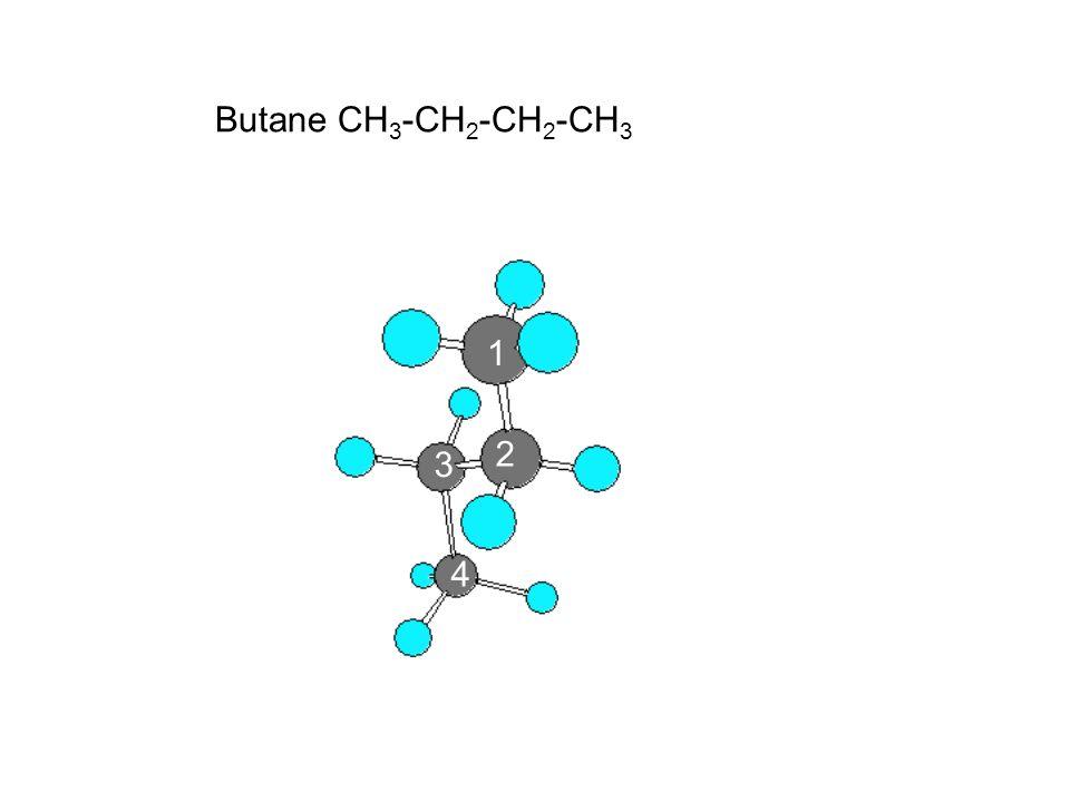 Butane CH3-CH2-CH2-CH3 1 2 3 4