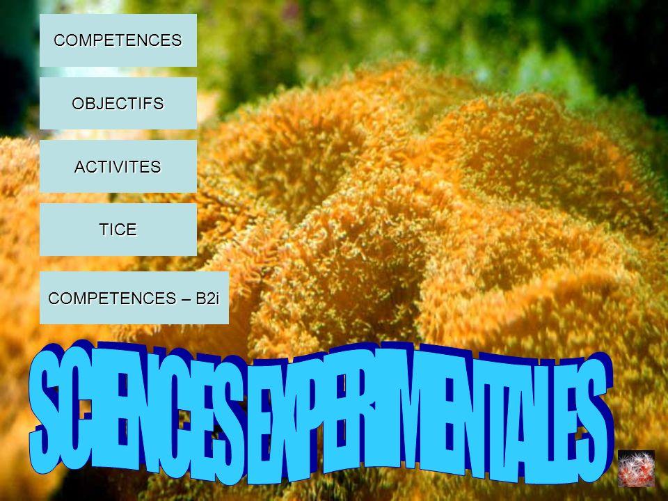 SCIENCES EXPERIMENTALES