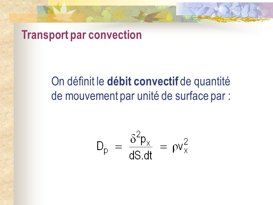 Transport par convection