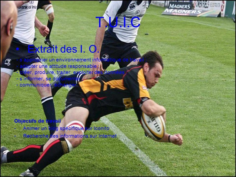 T.U.I.C Extrait des I. O.