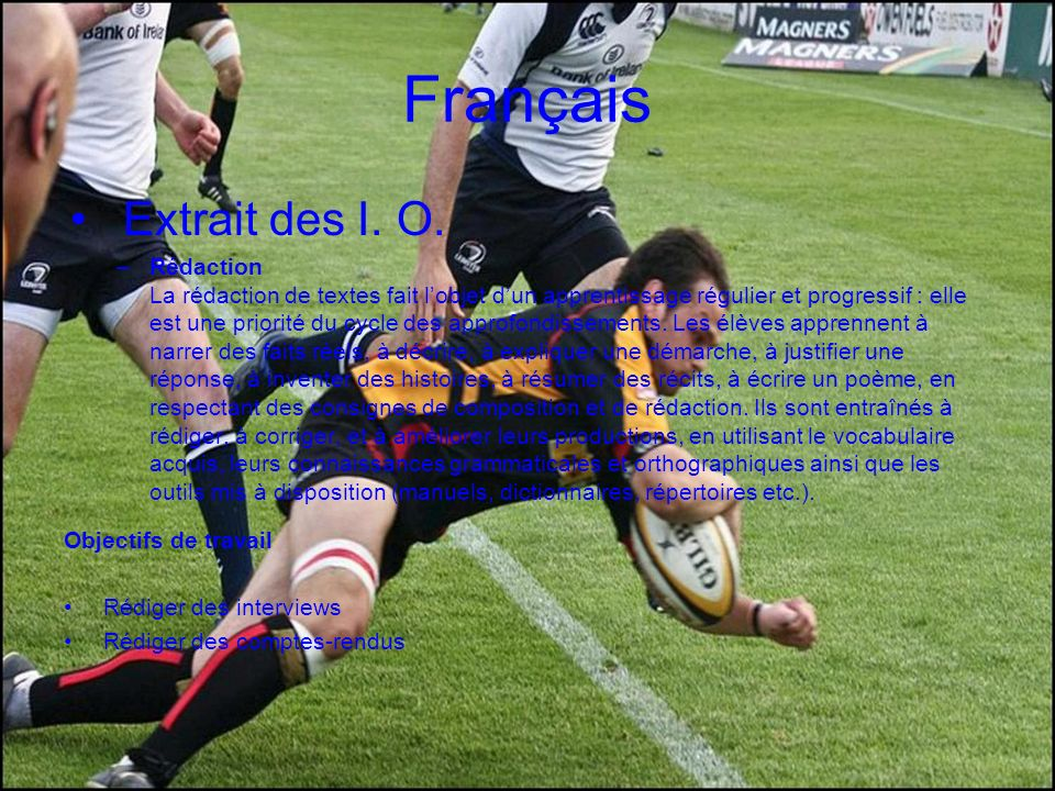 Français Extrait des I. O.