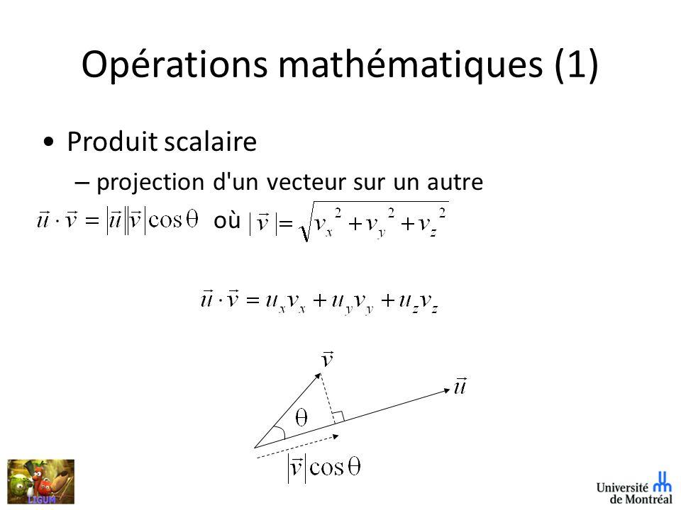 Opérations mathématiques (1)