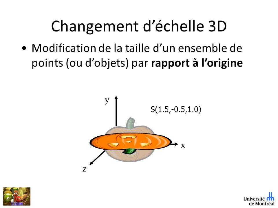 Changement d'échelle 3D