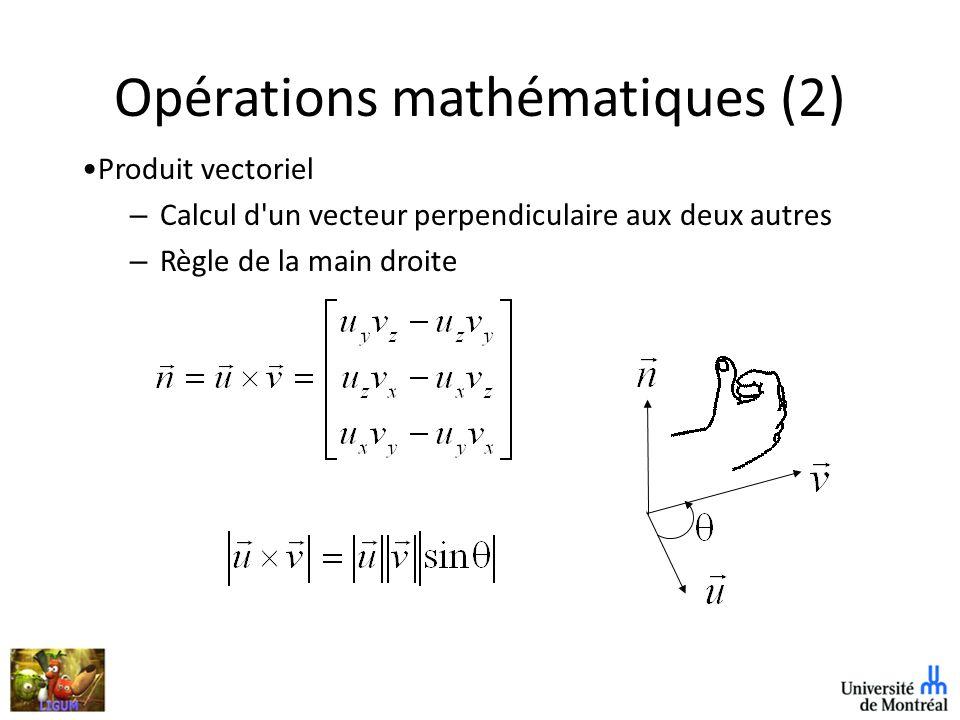 Opérations mathématiques (2)