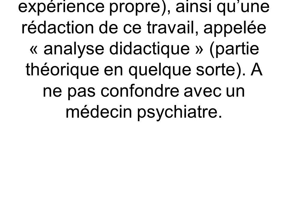 Psychanalyste : Personne ayant fait une analyse complète (la formation en quelque sorte par expérience propre), ainsi qu'une rédaction de ce travail, appelée « analyse didactique » (partie théorique en quelque sorte).