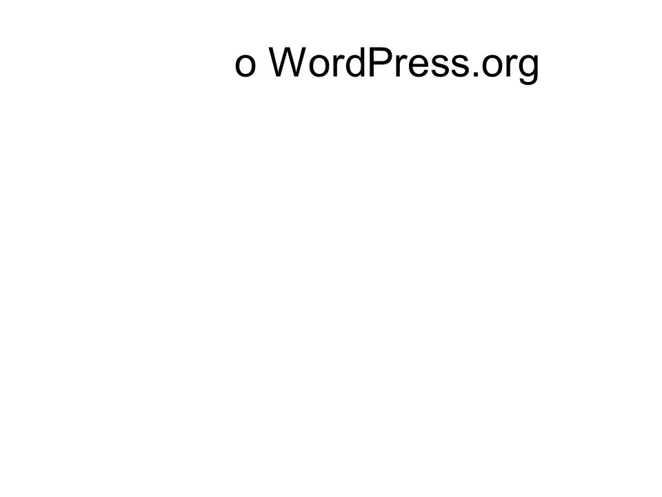 o WordPress.org