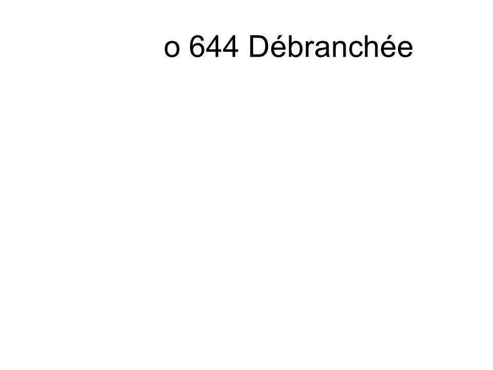 o 644 Débranchée